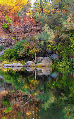 Target Threshold Nature - Fall Reflections - 2 by Jonathan Hansen