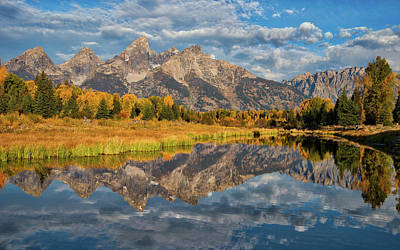 Royalty-Free and Rights-Managed Images - Fall Reflections in the Tetons by Darren White