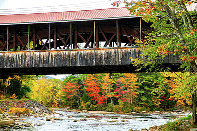 Photograph - Fall - Saco River Covered Bridge by Robert Clifford