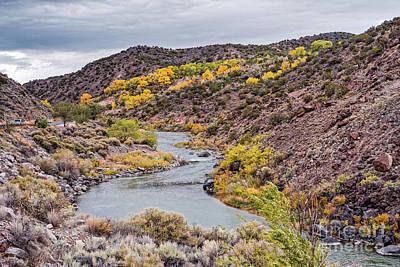 Photograph - Fall Scene At Rio Grande Del Norte Near Embudo - Rio Arriba County New Mexico Land Of Enchantment by Silvio Ligutti