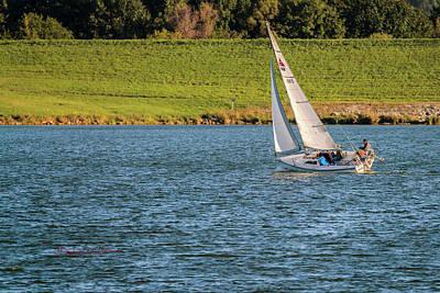 Photograph - Fall Sunday Sail by Edward Peterson