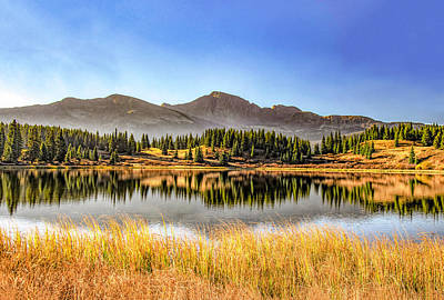 Photograph - Fall Sunrise At Little Molas Lake by Gordon Ripley