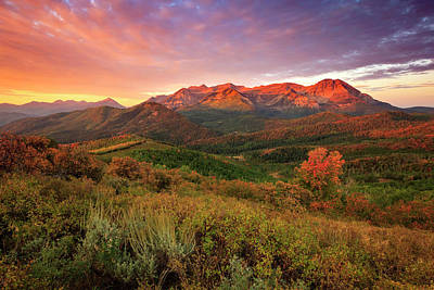 Impressionist Landscapes - Fall Sunrise in the Wasatch Back. by Johnny Adolphson