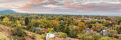 Photograph - Fall Sunrise Panorama Of Santa Fe The City Different - New Mexico Land Of Enchantment  by Silvio Ligutti