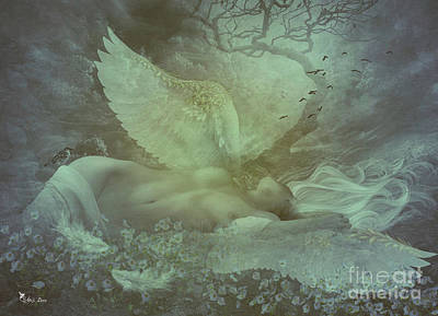 Digital Art - Fallen Angel by Ali Oppy