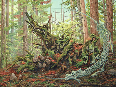 Other Painting - Fallen Cedar / Rising Dragon by Barbara Brown