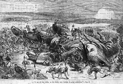 Fallen Giant Art Print by Hulton Archive
