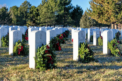 Photograph - Fallen Heroes At The Holidays by Tony Hake