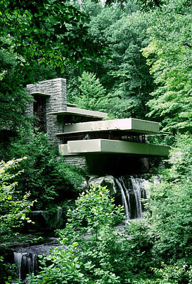 House Photograph - Fallingwater, In Rural Pennsylvania by Gregory K Scott