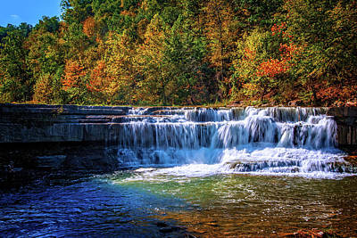 Photograph - Falls At The Trailhead Of  Lower Taughannock Falls by Lynn Bauer