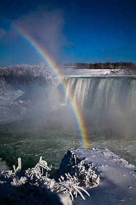 Photograph - Falls Misty Rainbow - 2 by Perggals - Stacey Turner