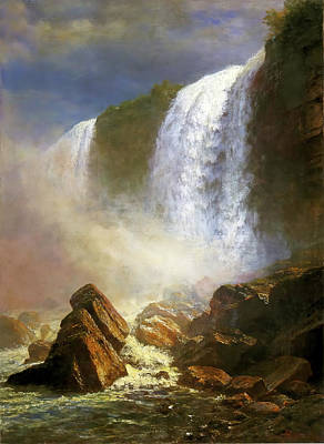 Photograph - Falls Of Niagara by Albert Bierstadt