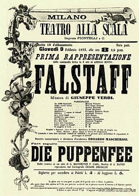 Painting - Falstaff Vintage Poster by Italian School