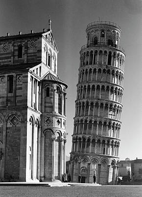 Photograph - Famed Leaning Tower Of Pisa Standing by Margaret Bourke-white