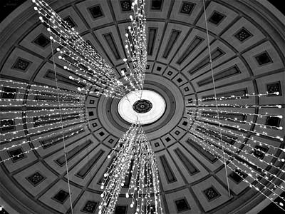 Photograph - Fameuil Hall Lights B W  by Rob Hans