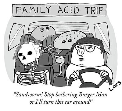 Drawing - Family Acid Trip by Lars Kenseth