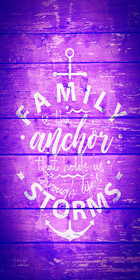 Royalty-Free and Rights-Managed Images - Family Anchor 5 purple by Andrea Gatti