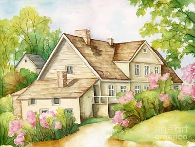 Painting - Family House by Inese Poga