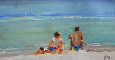 Wall Art - Painting - Family Outing by Kathryn McMahon