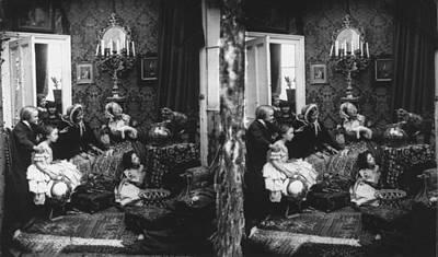 Family Scene Art Print by London Stereoscopic Company