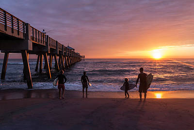 Photograph - Family Surfing by Debra and Dave Vanderlaan