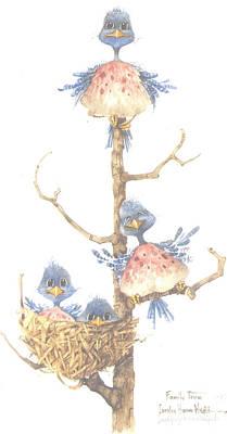 Wall Art - Painting - Family Tree by Carolyn Shores Wright