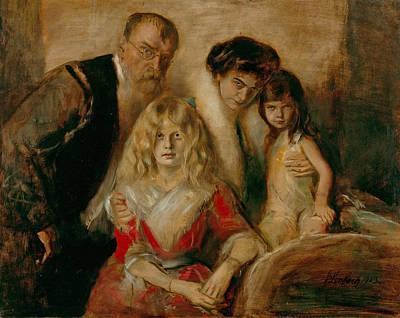 Painting - Family Von Lenbach by Franz von Lenbach