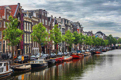 Photograph - Famous Canals Of Amsterdam by Debra and Dave Vanderlaan
