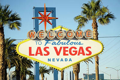 Photograph - Famous Las Vegas Nevada Welcome Sign by Alex Grichenko