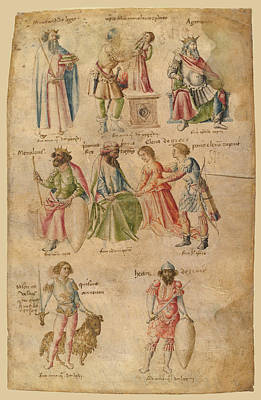 Drawing - Famous Men And Women From Classical And Biblical Antiquity 1 by Attributed to Barthelemy d'Eyck