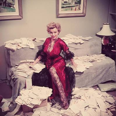 Indoors Photograph - Fan Mail by Slim Aarons