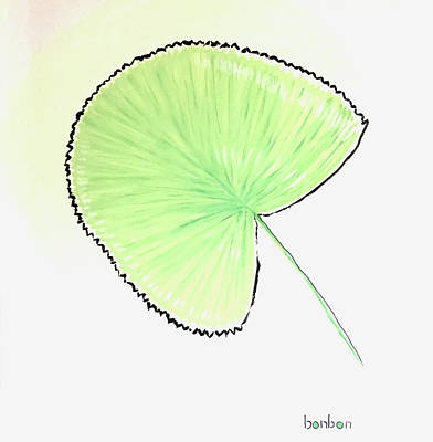 Painting - Fan Palm by Bonnie Owen