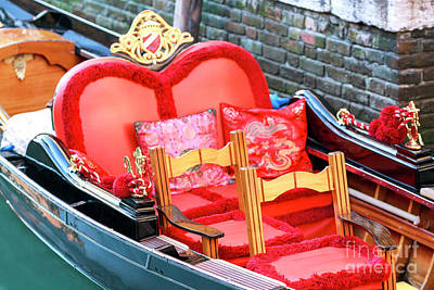Photograph - Fancy Gondola In Venice by John Rizzuto