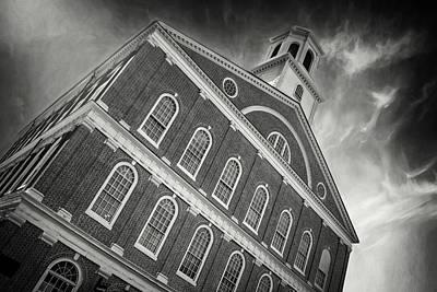 Marketplace Wall Art - Photograph - Faneuil Hall Boston Massachusetts Black And White by Carol Japp