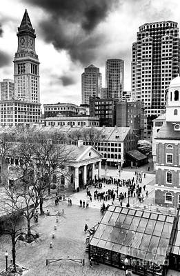 Faneuil Hall Marketplace Boston Art Print