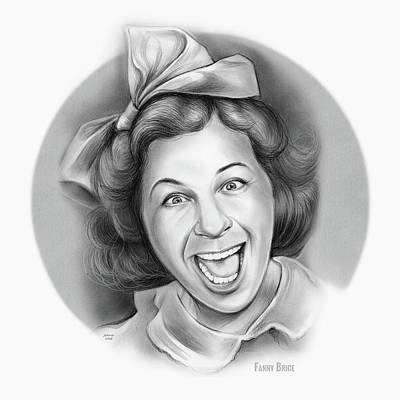 Drawings Royalty Free Images - Fanny Brice Royalty-Free Image by Greg Joens