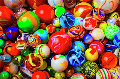 Photograph - Fantastic Childhood Marbles by Garry Gay