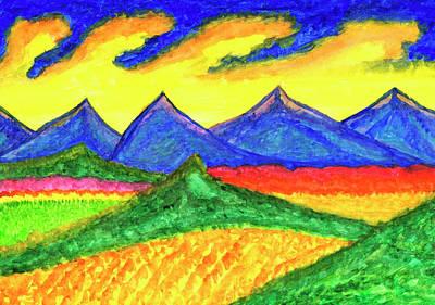 Painting - Fantastic Mountain Landscape by Irina Dobrotsvet