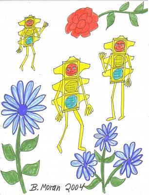 Drawing - Fantasy by Barb Moran