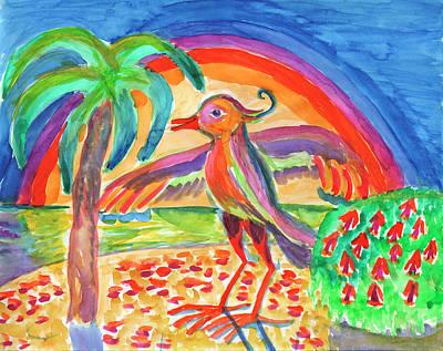 Painting - Fantasy Bird by Irina Dobrotsvet