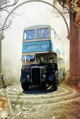 Digital Art - Fantasy Bus Ride by Pete Hunt