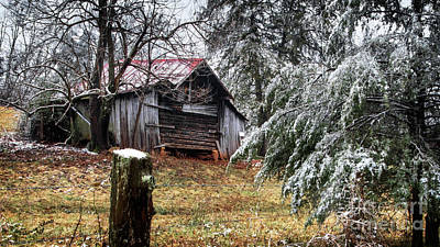 Target Threshold Nature - Farm Building Winter by Aaron Shortt