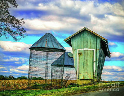 Photograph - Farm Buildings Along The Road by Nick Zelinsky