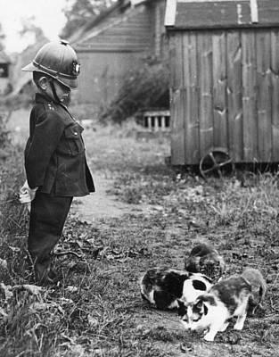 Photograph - Farm Cats by Rw