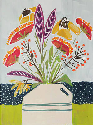 Wall Art - Painting - Farm Flowers by Kaley Alie