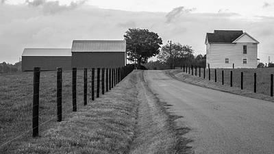 Photograph - Farm House And Barn Kentucky by John McGraw