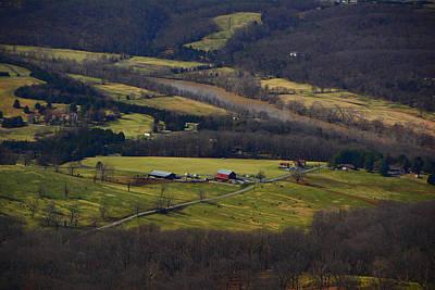 Photograph - Farm In Shenandoah River Valley by Raymond Salani III