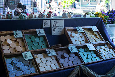 Photograph - Farmers Market Herbal Soap by Tom Cochran