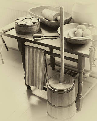 Photograph - Farmhouse Butter Churn by James Eddy