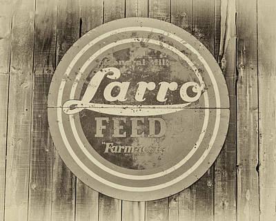 Photograph - Farmhouse Feed Sign by James Eddy